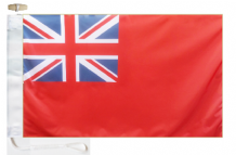 Civil (Merchant) Red Ensign Courtesy Boat Flags (Roped and Toggled)